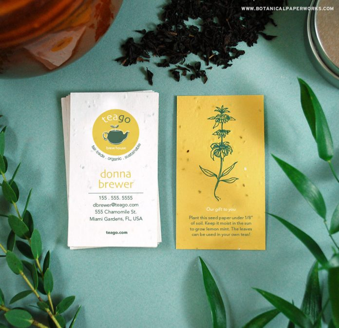 seed paper business cards