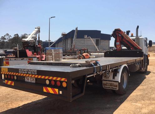tilt tray crane truck